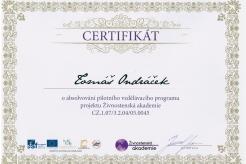Certifikát ŽA