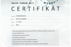 Certifikát Delta 2017